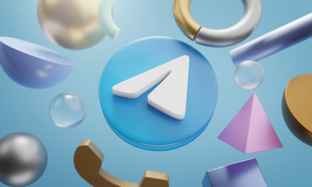 telegram-logo-around-3d-rendering-abstract-shape-background_1379-4857